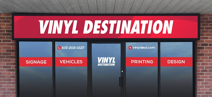 Vinyl Destination Printing. London, Ontario